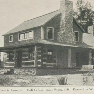 Old photo of James White's Fort