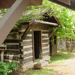 close up of cabin